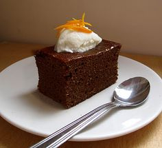 flourless chocolate orange and ginger cake