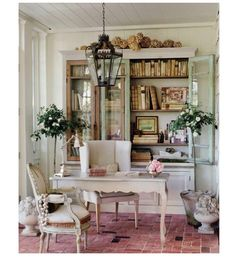 Love using this built in (was this once a dinning room) for office space!