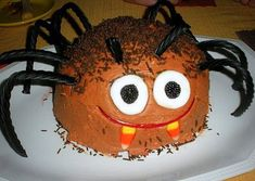 Spider Cake | Kitchen Treaty - I esp. love that the recipe states this is not made with actual spiders ;-)