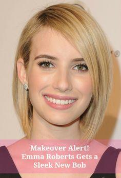 Makeover alert! Emma Roberts gets a sleek new bob