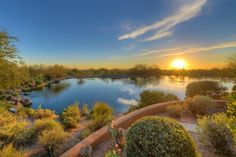 DC Ranch home for sale in #Scottsdale, AZ. This patio home is located on the lake with beautiful sunset views.