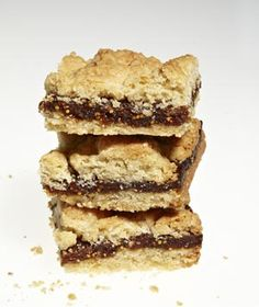 """Fig Crumb Bars  My mom used to make these from an old family recipe.  As kids, we called them """"flat tires.""""    LOL"""