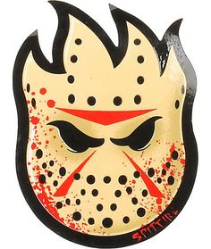Represent Spitfire with the Horror Bighead sticker in tan and red splatter. Featuring the classic Spitfire Bighead logo wearing a hockey mask and covered in blood. Made of a sturdy weather-resistant vinyl for a long-lasting sticker that keeps color and lo Grizzly Skate, Skateboard Logo, Penny Skateboard, Spitfire Tattoo, Spitfire Skate, Tattoo Drawings, Art Drawings, Skate Art, Sticker Bomb