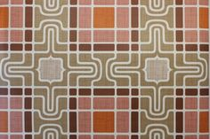 rosiesvintagewallpaper.com / retro geometric pink and brown