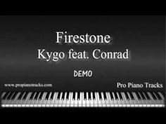 Piano accompaniment, piano instrumental and sheet music of Firestone by Kygo. Download at http://propianotracks.com/firestone-kygo-conrad-sewell-piano-accomp...