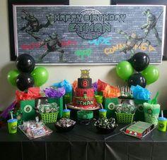 Teenage mutant ninja turtles cake table