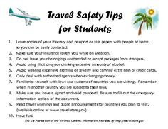 Travel Safety Tips for Students