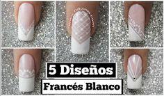 Deko Uñas by Diana Diaz Lace Nail Art, Lace Nails, Hair And Nails, My Nails, French Nail Art, Pedicure Nail Art, Finger, Nail Art Hacks, Cute Nail Designs