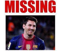 Gdzie jest słynny gwiazdor FC Barcelony • Lionel Messi zaginął w meczu z Atletico Madryt w Lidze Mistrzów • Wejdź i zobacz mem >> #football #soccer #sports #pilkanozna