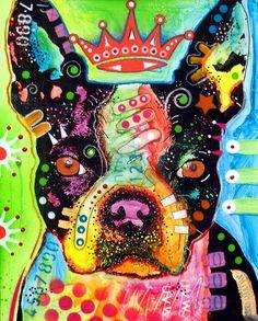 Boston Terrier Crowned Painting  - Boston Terrier Crowned Fine Art Print