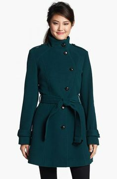 Lovely color and cut. (Cole Haan Wool Blend Officer's Coat (Online Only) available at #Nordstrom)