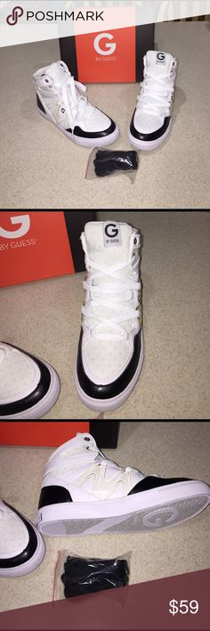 Guess Tennis Shoes NWT White and Black, they also come with black laces. New with box. G by Guess Shoes Sneakers