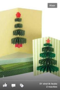 kerstboom 'muizentrap' kerstkaart