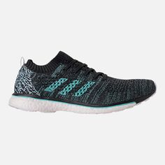 buy popular e3ee1 d1733 Right view of Mens adidas Adizero Prime x Parley Running Shoes in Black Aqua