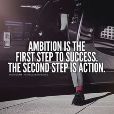 Ambition - set your dreams, desires and visions in place. Let them reflect your heart and your passions.  Action - Stop talking, start doing. Don't wait until you have everything sorted before you start. Take one step at a time. Small consistent progress is better than no progress at all!  Inspired by @theclassypeople!  #achievetheimpossible