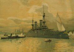 Carl Saltzmann - Der Kieler Hafen (1905)