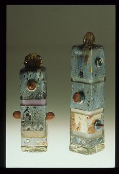Totems in glass by Peter Goss