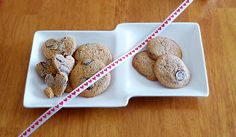 Hot Chocolate Cookies with Cayenne ~ Regular (L) & Lower Carb Vegan (R)