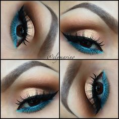 Nude and Electric blue Liner <3