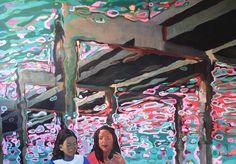 Arthur Arnold / 20 Mil Léguas Submarinas / Acrílica sobre tela - 2012 - 136 x193 cm