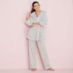 d3dea0626c Debenhams Grey Star Print Cotton Blend Pyjama Set Size UK 8 LF182 DD 01   fashion