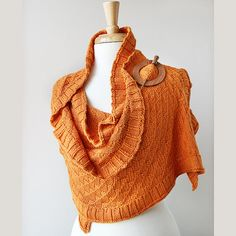 Beautiful Hand Knit Rococo Shawl by TickledPinkKnits ...love the wood brooch with it as well. #ArtisansGalleryTeam #agteam