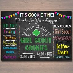 CUSTOM Girl Scouts Cookie Booth Sign, DIGITAL FILE, Girl Scouts Leader, Girl Scouts Cookie Banner, Brownies, Daisies, Girl Scout Printables by TidyLadyPrintables on Etsy https://www.etsy.com/listing/467704560/custom-girl-scouts-cookie-booth-sign