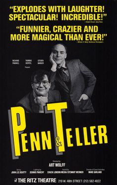 posters pen and teller - Cerca amb Google
