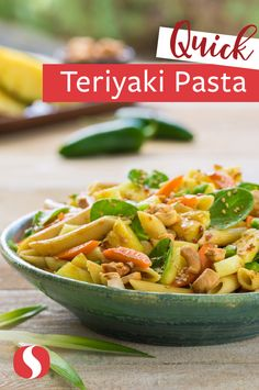 Try out our tangy Teriyaki Pineapple Pasta for healthy recipe has the fruits and veggies you enjoy! Keep the jalapeno seeds for some extra spice or add shredded rotisserie chicken on top for some extra protein!