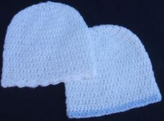 The Left Side of Crochet: Basic Infant Hat (4 sizes)