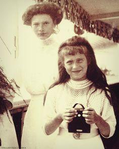 "Grand Duchess Tatiana and Anastasia Nikolaevna Romanova of Russia. ""AL"""