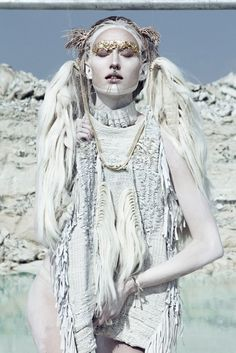 ❄️Queen of Ice and Snow / karen cox. VALERIYAOLKHOVA | white tribal editorial.