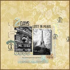"""Lost in Paris"" by Margje, as seen in the Club CK Idea Galleries. #scrapbook #scrapbooking #creatingkeepsakes"
