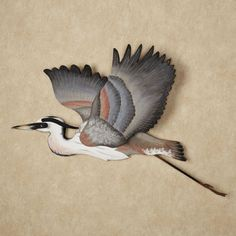 Heron Liftoff Indoor Outdoor Wall Art