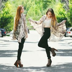 Katia  Horse Poncho, American Apparel Cream Crop, American Apparel Black High Waisted Jeans, Jeffrey Campbell Brown Litas