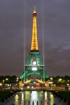 Paris celebrates South Africa