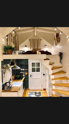 Tiny House Loft, Modern Tiny House, Tiny House Living, Tiny House Design, My House, Cabin In The Woods, Farmhouse Homes, Modern Farmhouse, House Goals