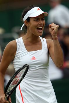 Ana Ivanovic celebrates after defeating Maria Jose Martinez Sanchez in the first round. - Tommy Hindley/AELTC