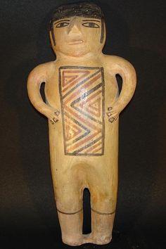 Large pre-Columbian Nazca pottery doll, Peru.