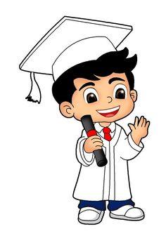 Graduation Cartoon, Graduation Images, Class Door Decorations, Girl Cartoon Characters, Doodle Girl, Islamic Cartoon, Cute Sketches, Anime Muslim, Photo Pin