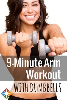 Challenge yourself with this 9-Minute Arm Workout with Dumbbells video that is perfect for all fitness levels!