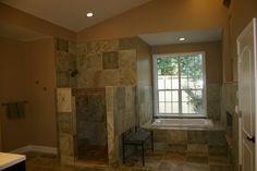 shower bathtub fireplace