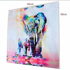 Posters & Prints Abstract Elephant Canvas Print Oil Painting Unframe Picture Home Wall Art Mural & Garden Art Mur, Mural Wall Art, Canvas Wall Art, Canvas Prints, Painting Canvas, Art Prints, Spray Painting, Framed Canvas, Painting Tips