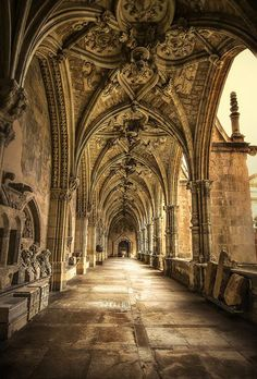 Beautiful, mysterious places...Catedral de Leon, Spain.