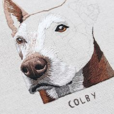 Another handsome chap in the works! Hand Embroidery Stitches, Silk Ribbon Embroidery, Cross Stitch Embroidery, Embroidery Patterns, Cross Stitch Patterns, Thread Painting, Cross Stitching, Textile Art, Needlepoint
