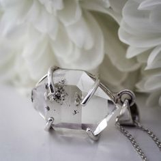 Herkimer Diamond Pendant, with 925 Sterling Silver