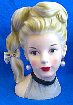 lady head vases | Lady Head vase (Head Vase:) at Cookie's Collectibles
