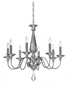 The simplicity of this design reveals the stunning beauty and value of its crystal. The crystal centerpiece features large angular facets that produce expansive rainbows of spectral light.