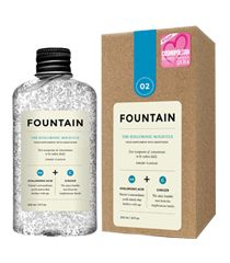 Drinkable supplement by Fountain, featured at www.thefanzynet.com