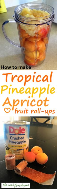 Why pay for store bought fruit roll ups when you can make your own that taste better and are better for you? (Budget Meals For Kids) Apricot Fruit, Pineapple Fruit, Fruit Fruit, Paleo Dessert, Healthy Fruits, Healthy Snacks, Fruit Leather Recipe, Fruit Roll Ups, Dehydrated Food